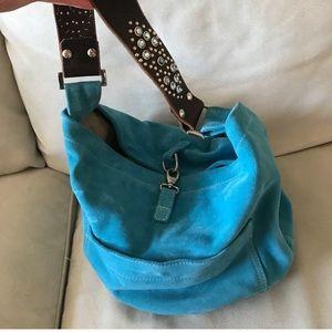 Tylie Malibu blue suede bag